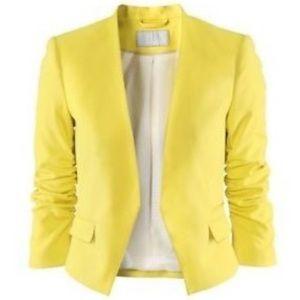 H&M Bright Yellow Blazer, size 8